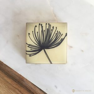 samantha clark waters hey stella art block print dandelion