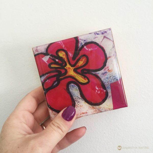 samantha clark waters hey stella art block print hibiscus
