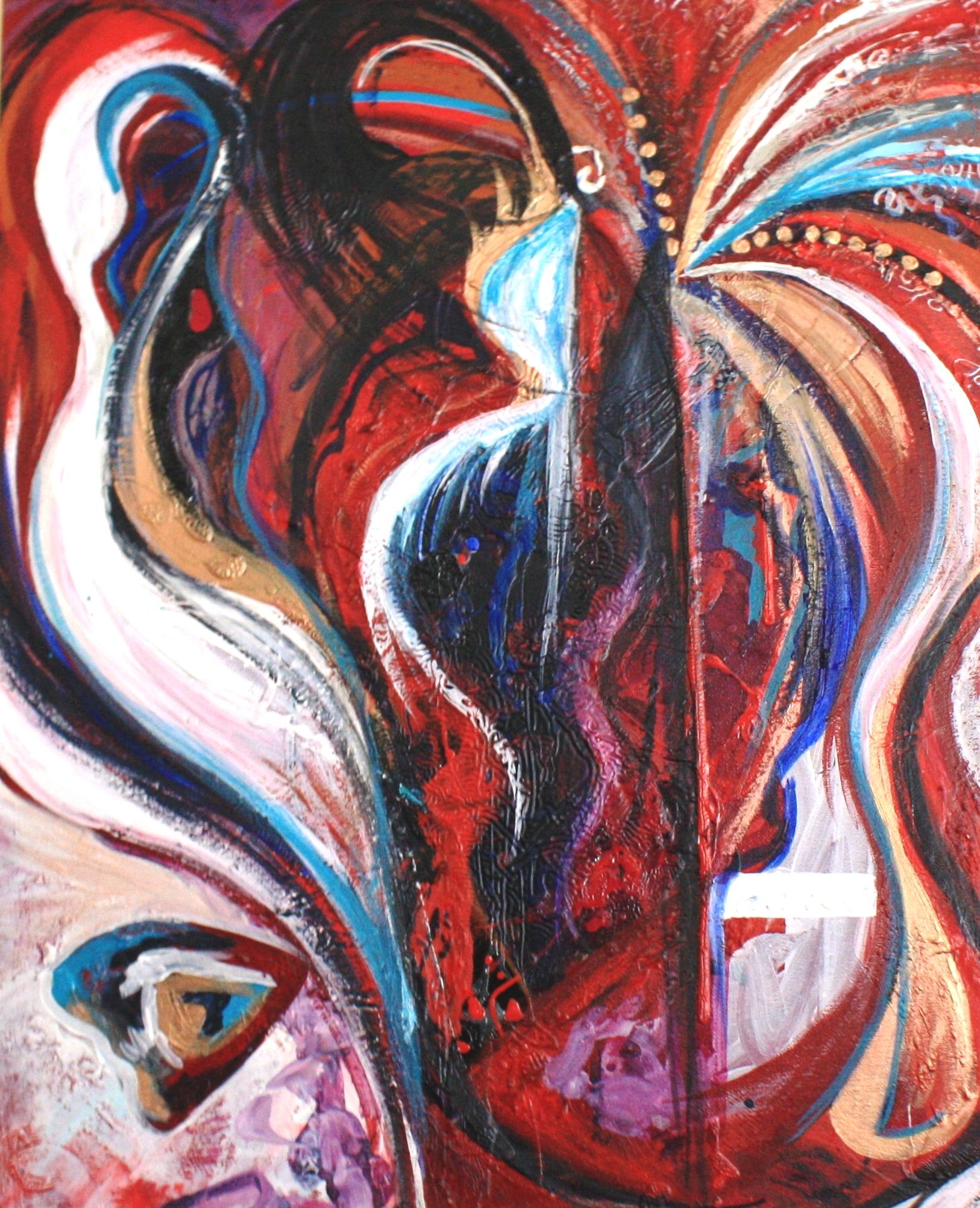 samantha clark art poetry butterfly woman