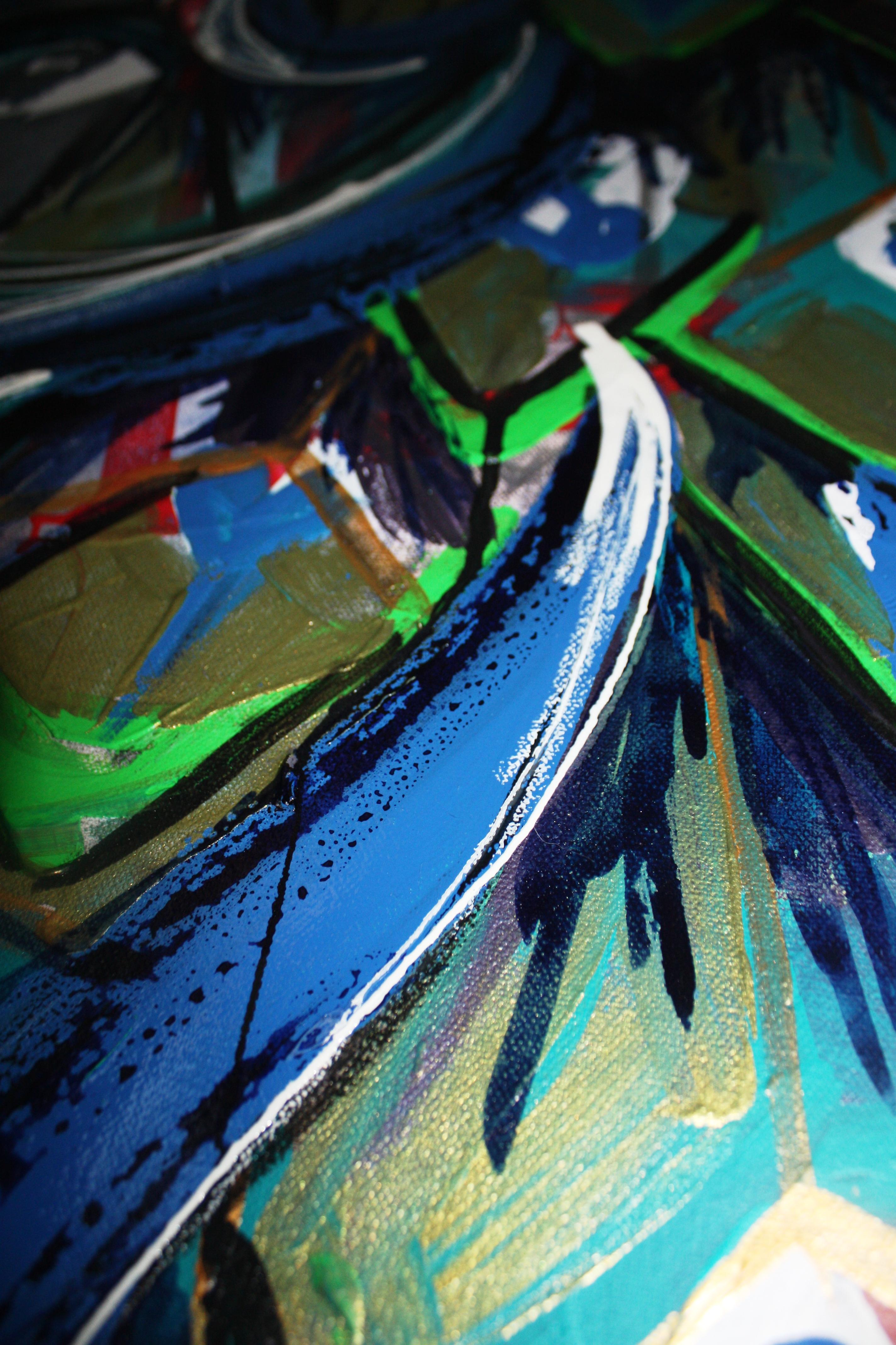 samantha clark paint poetry peacock 5