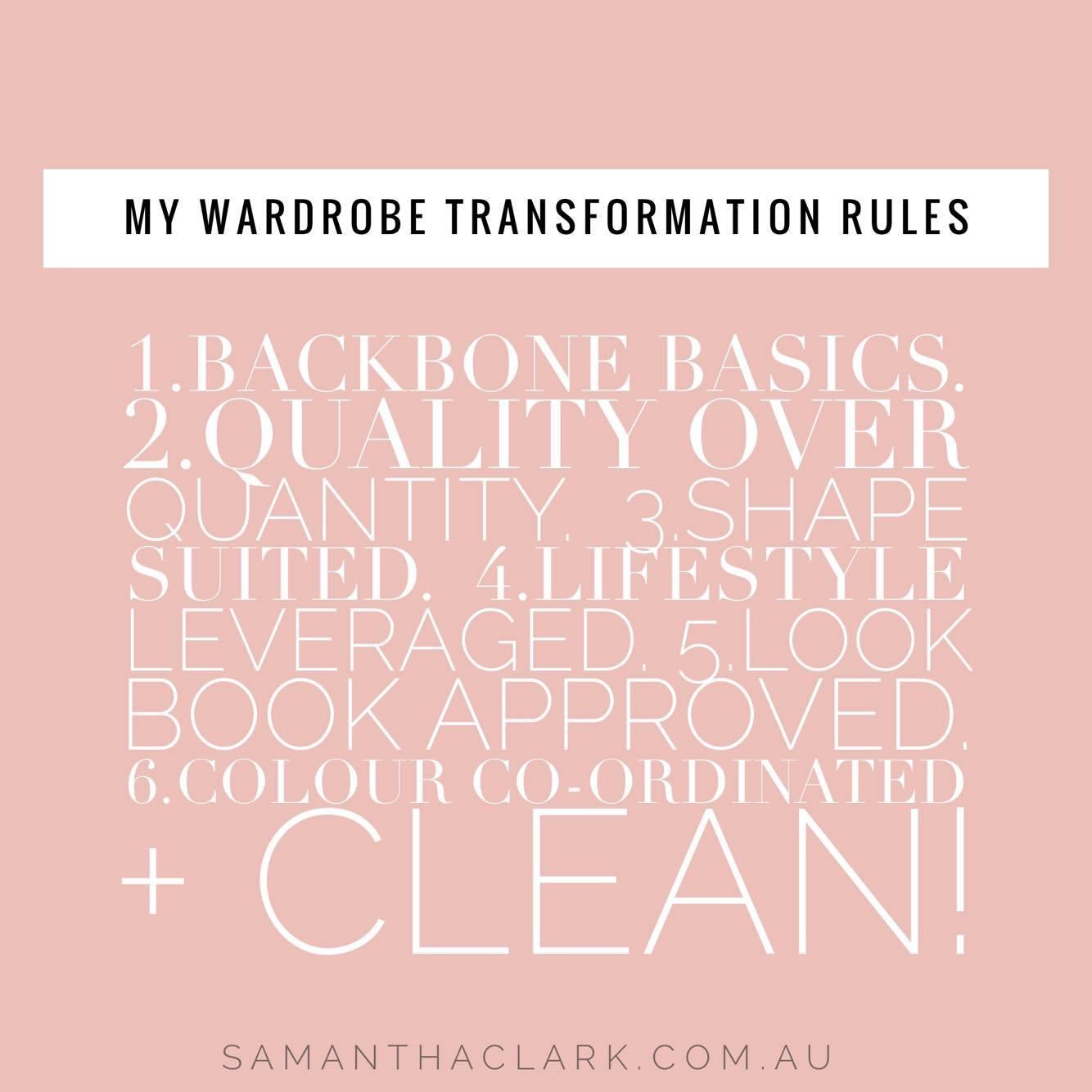 wardrobe transformation rules blog