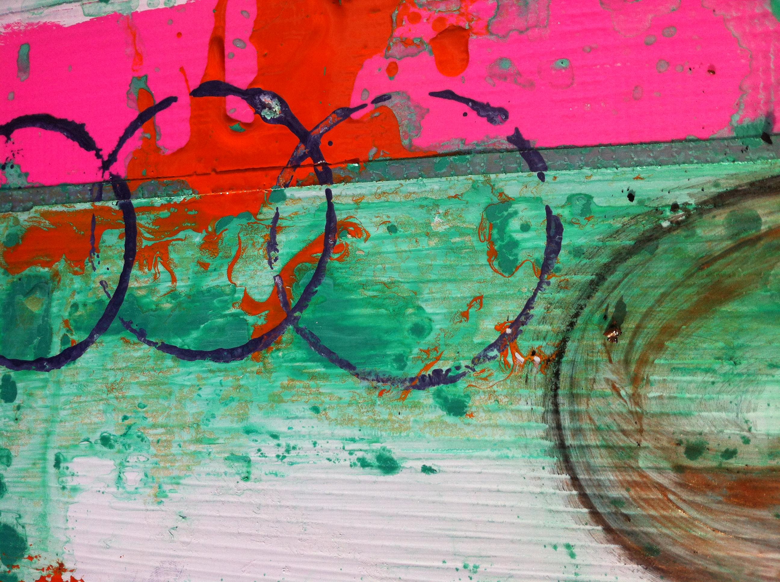 samantha clark art poetry fluoro pink 1