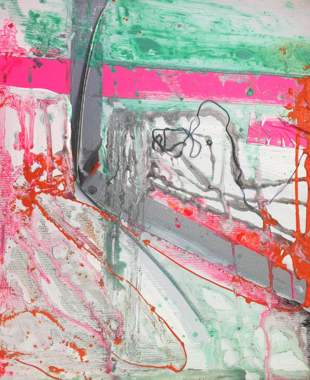 samantha clark art poetry fluoro pink 2