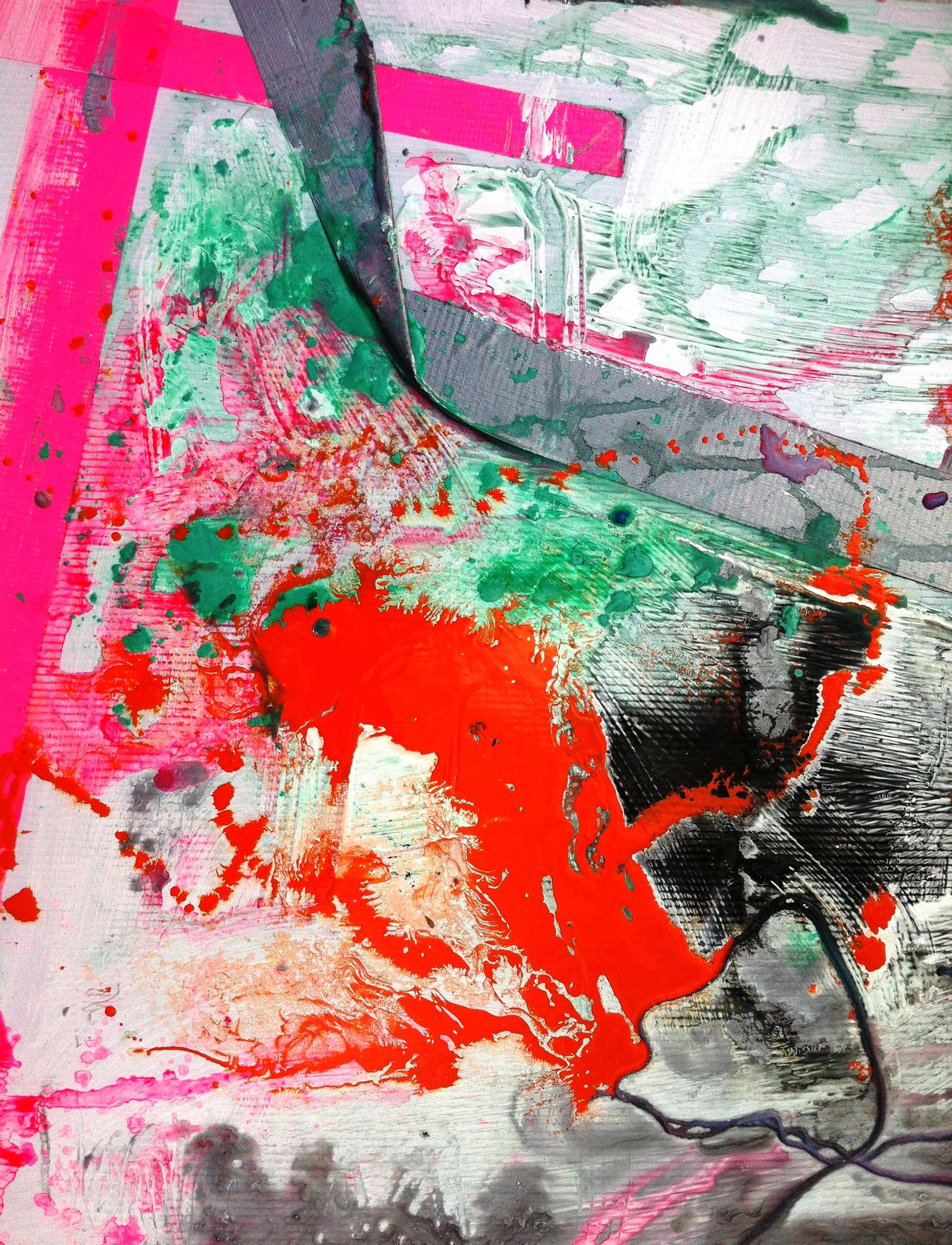 samantha clark art poetry fluoro pink 3