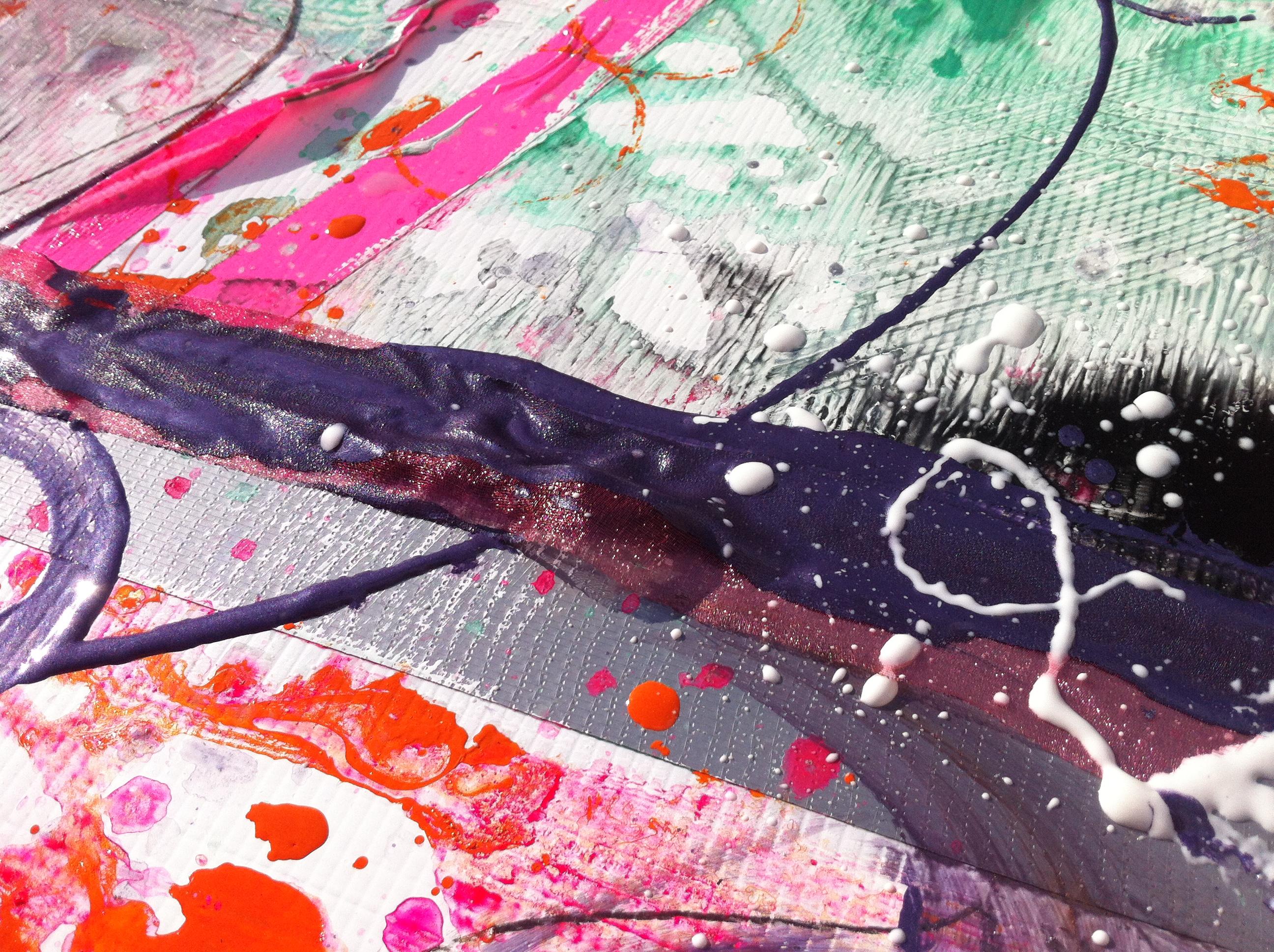 samantha clark art poetry fluoro pink 5