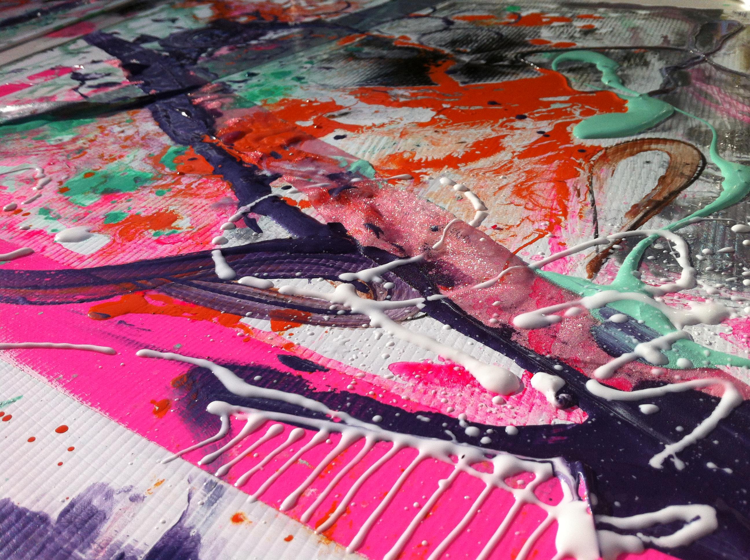 samantha clark art poetry fluoro pink 6