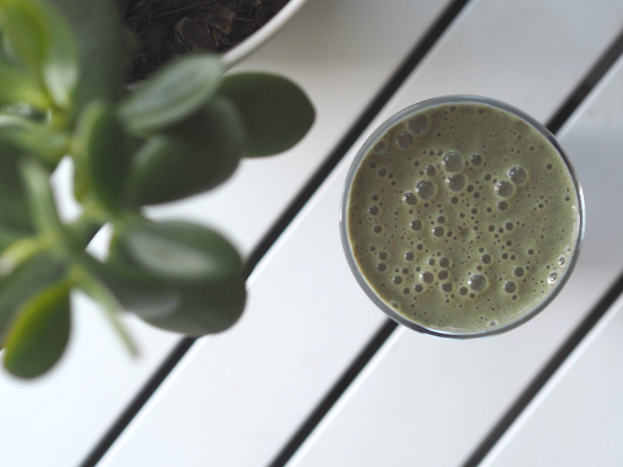 banana protein green smoothie