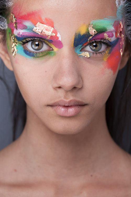 catwalk makeup inspo paint face beauty school