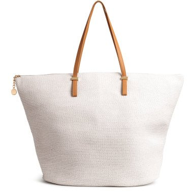 budget summer straw shopper white