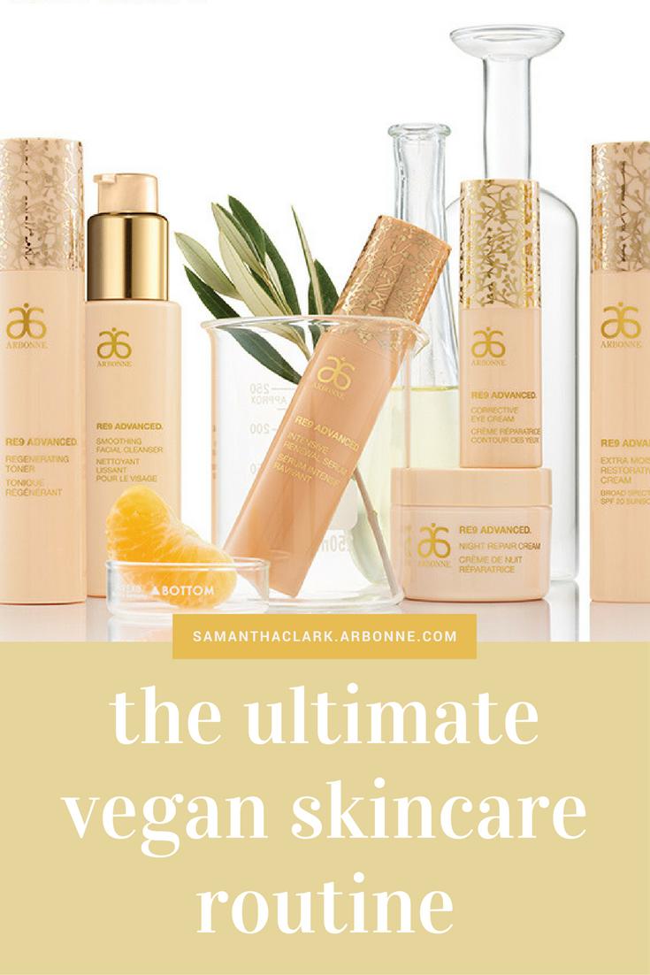 ultimate vegan skincare routine anti ageing arbonne consultant