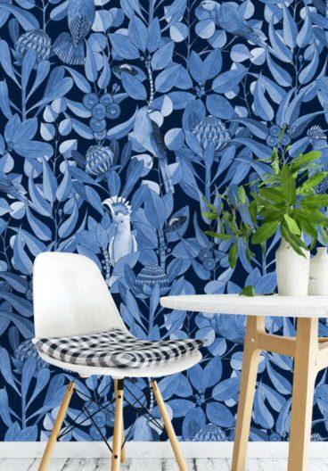 beach house blue cool native wallpaper