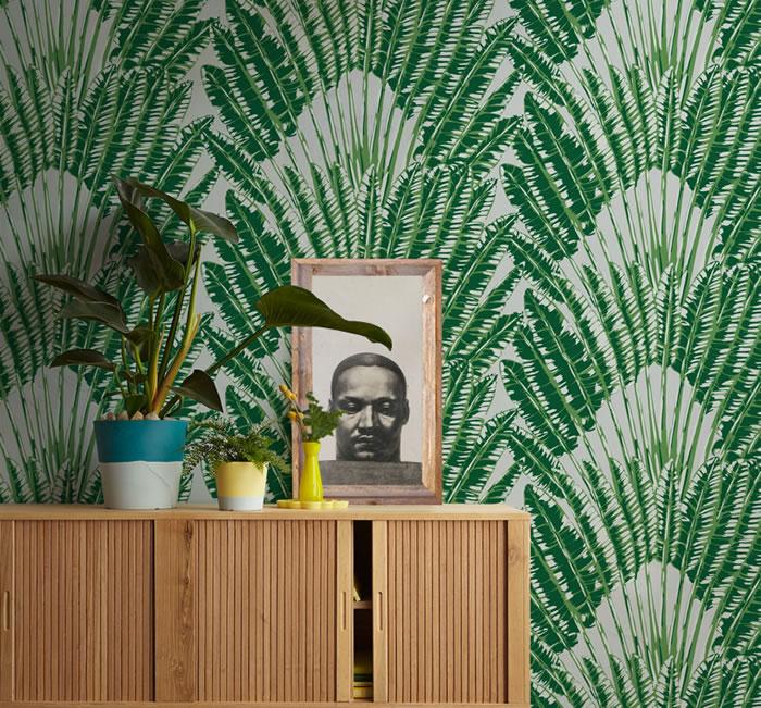 palm emily ziz cool beach house wallpaper