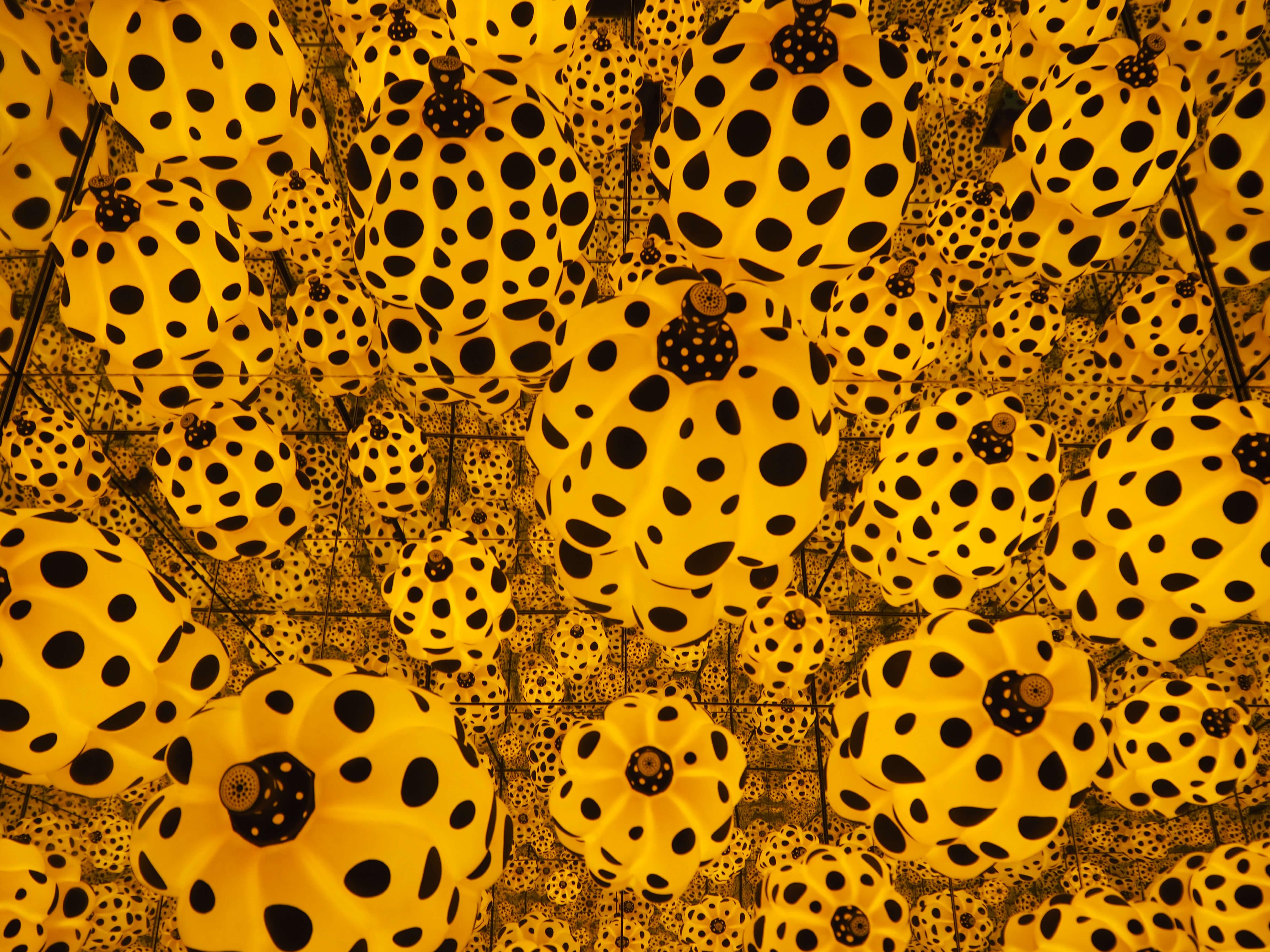 polka dot pumpkins yayoi kusama goma exhibition 1