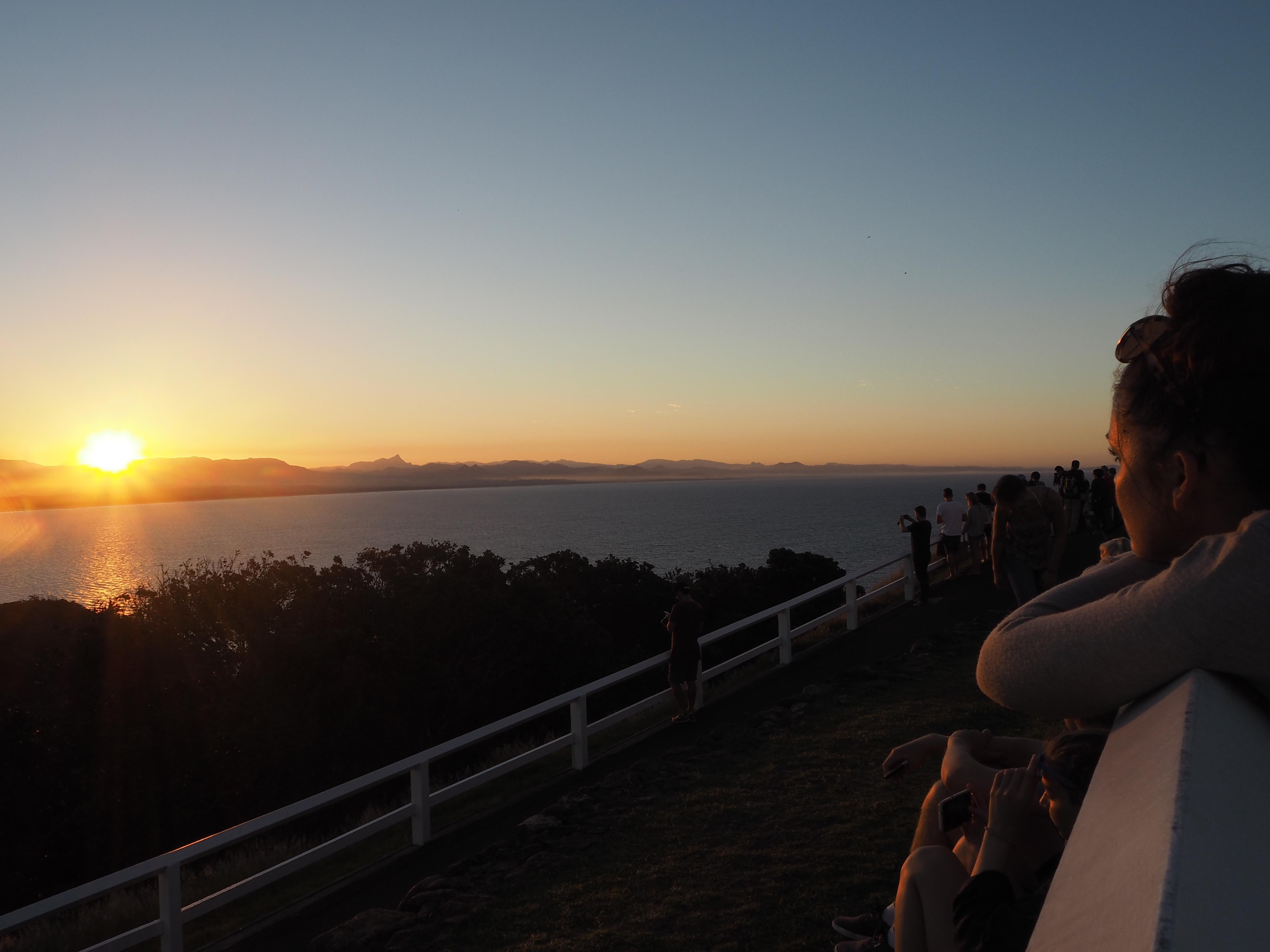down under holiday byron bay sunset samantha clark