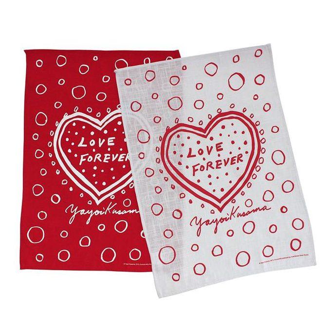 tea towel yayoi kusama third drawer down valentines home