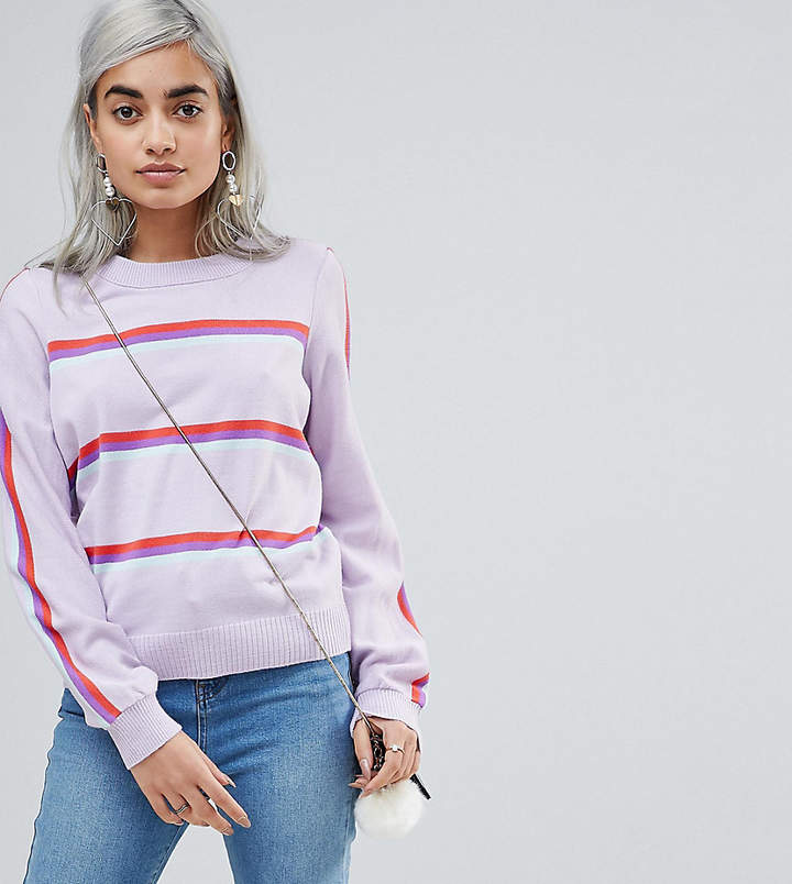 autumnal long sleeve sweater stripe fashion blog under 100