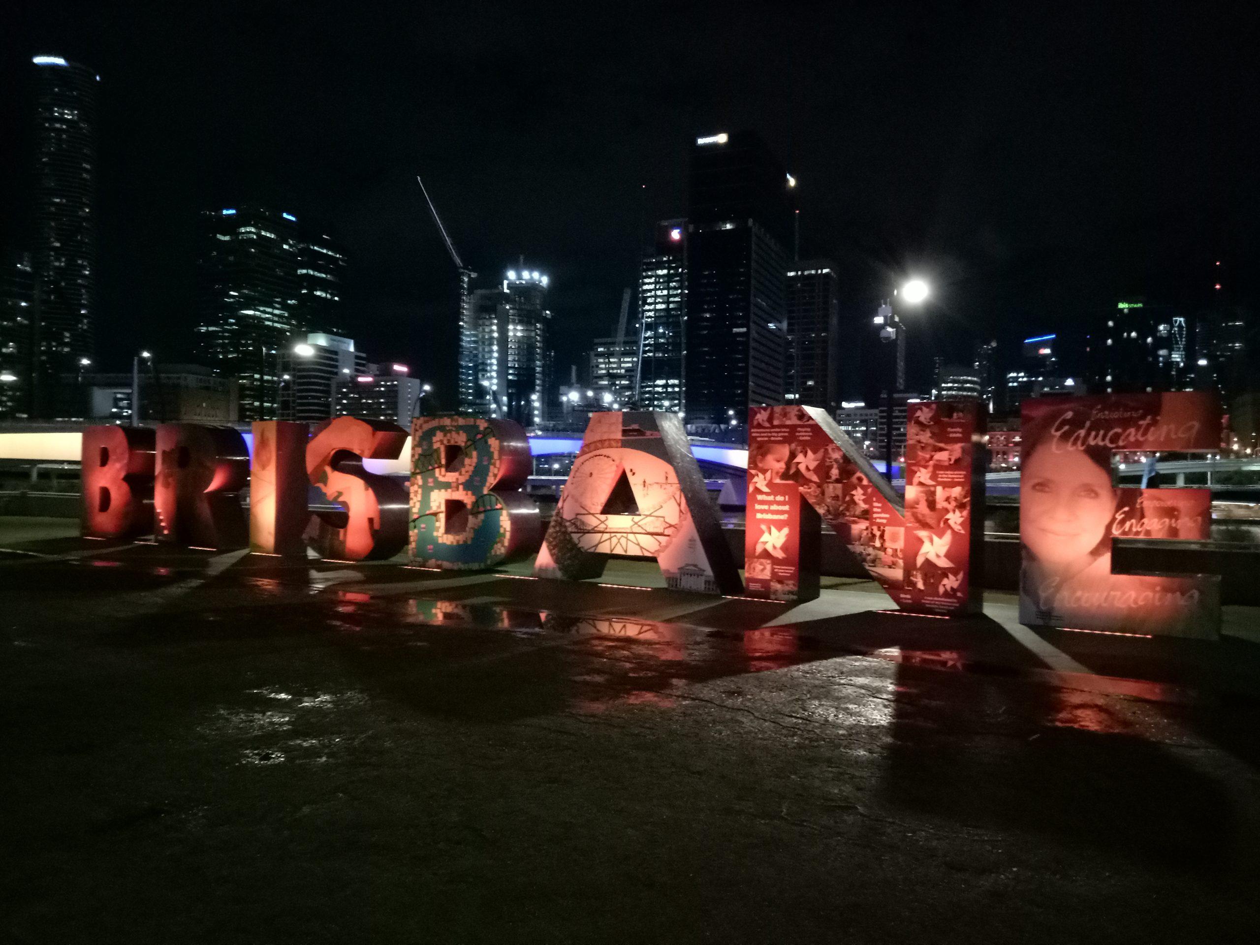 explore brisbane city sign qld australia travel blog