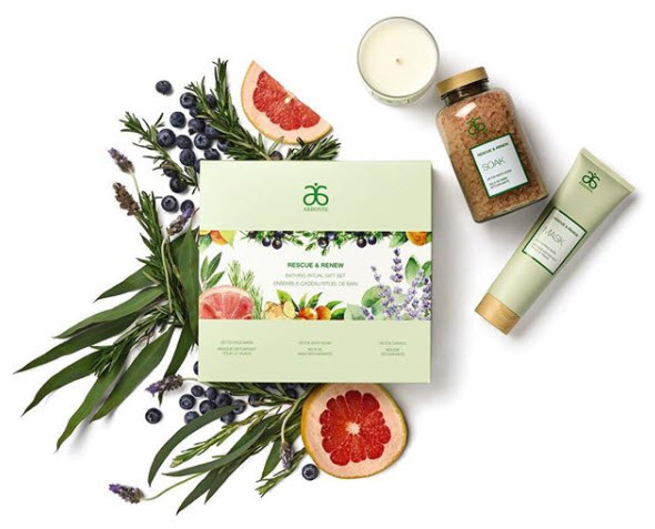 mothers day vegan bath gift pack set arbonne botanical detox