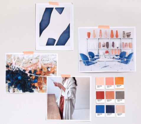 interiors mood board creation designing renovation pantone colours