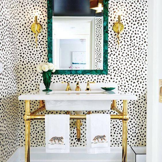 maximalist decor interior design blog colour pattern more powder room personality