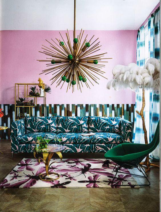 maximalist decor interior design blog colour pattern more wallpaper hollywood