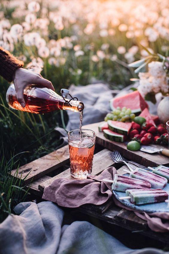 perfect instagram picnic setting spring cute basket food blog palette