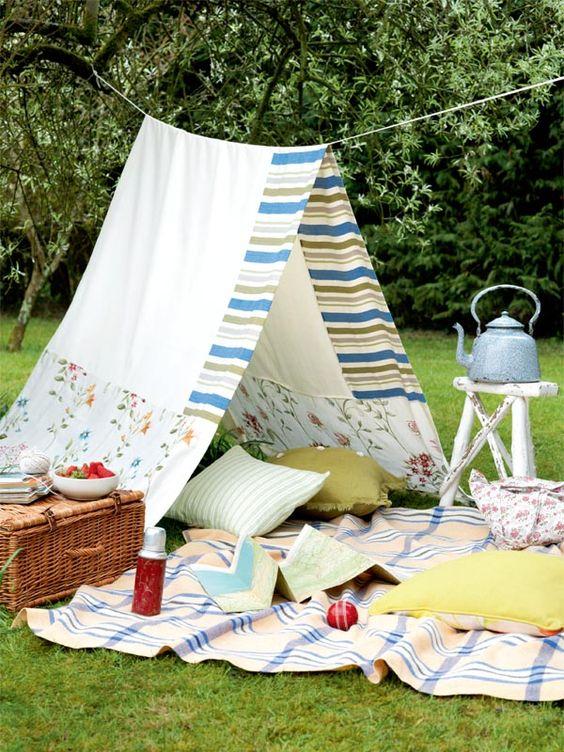 perfect instagram picnic setting spring cute basket food blog tent