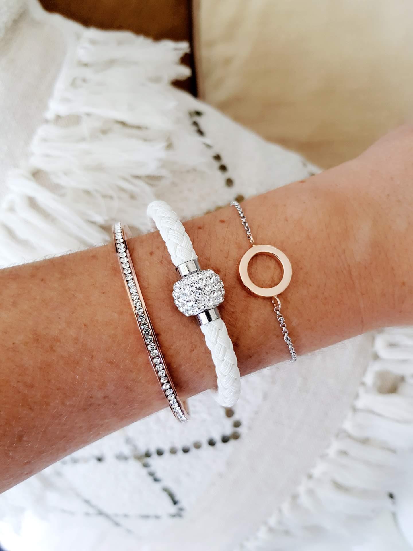 samantha clark waters jewelry jewellery mixed metals stack fashion blog bangle