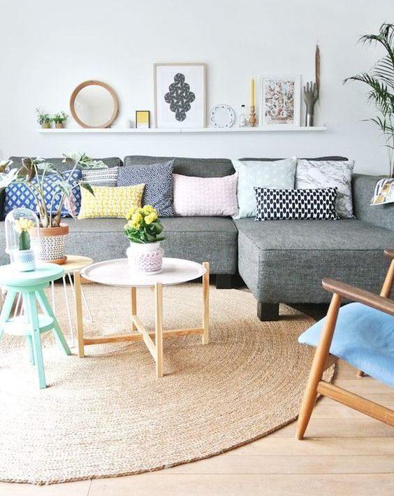easter decor subtle home interior design blog samantha waters pastel pillows