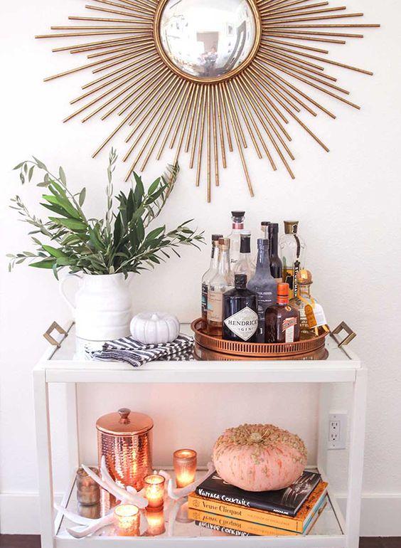 seasonal bar cart decorating blog interiors home samantha clark waters autumn
