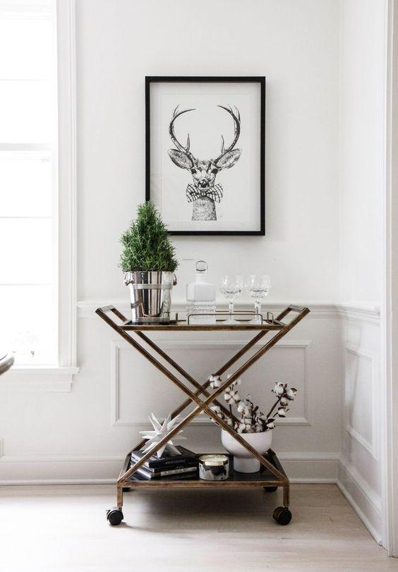seasonal bar cart decorating blog interiors home samantha clark waters christmas holiday