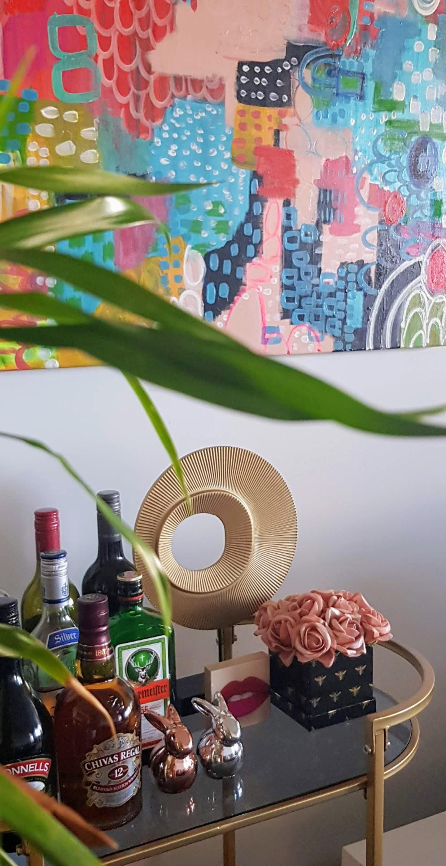 seasonal bar cart decorating blog interiors home samantha clark waters easter