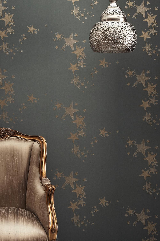 star motif decor home interior design lifestyle blog wallpaper