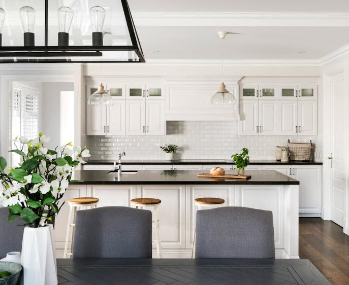 hamptons house style interior design blog glass lighting
