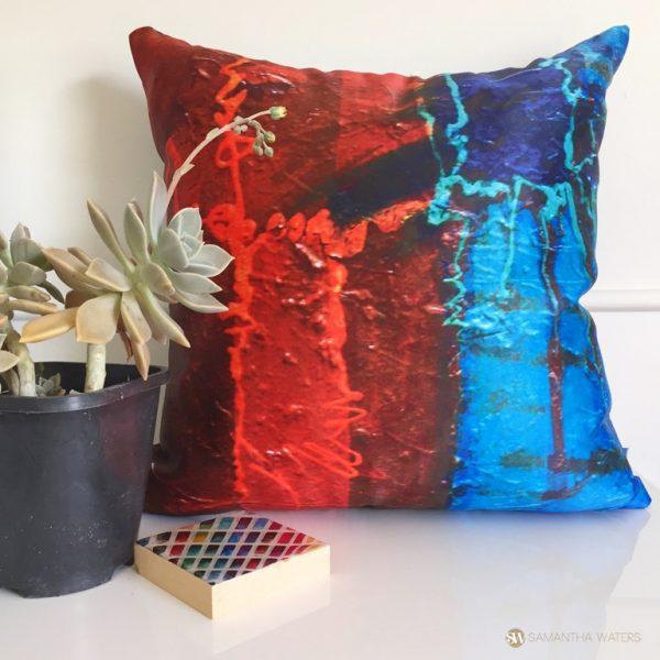 samantha clark waters hey stella art cushion cover lava