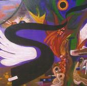 samantha clark waters expressionist artwork art australia