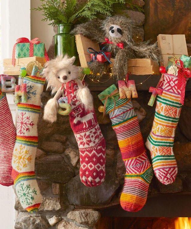 perfect christmas holiday santa stockings decor colourful