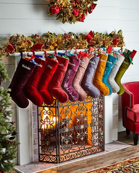 perfect christmas holiday santa stockings decor velvet
