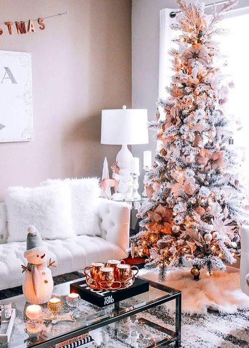 rose gold christmas room decoration inspiration interiors blog