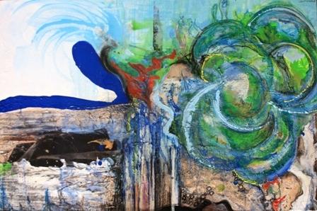 queens lake coastal artwork gold coast artist samantha waters abstract